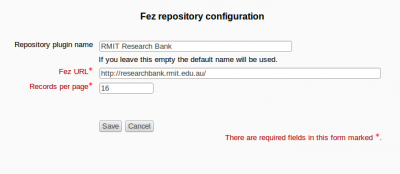Fez repository settings